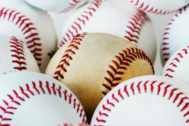 Gros plan de baseball