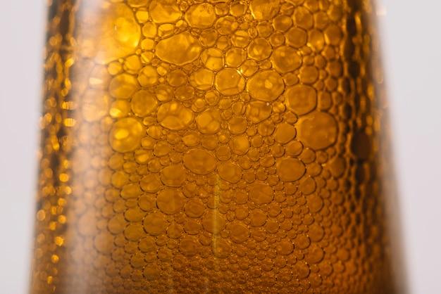 Gros plan, de, a, bière, bulles