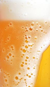Gros plan, bière, mousse