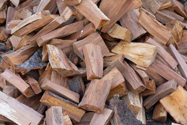 Gros plan de bois de chauffage