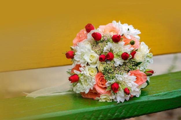 Gros plan, bouquet mariage