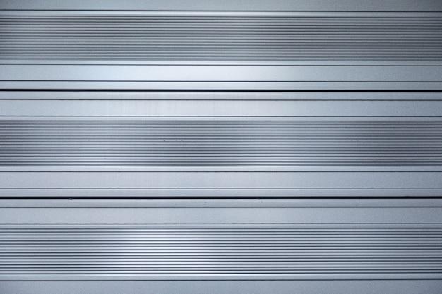Gros plan, brillant, métal, surface, à, rayures horizontales