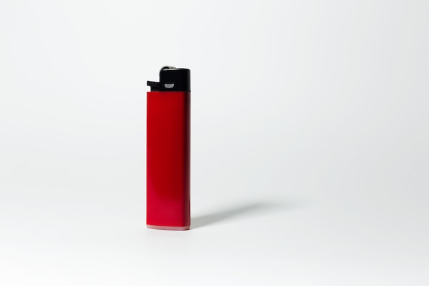 Gros plan, de, briquet rouge, blanc