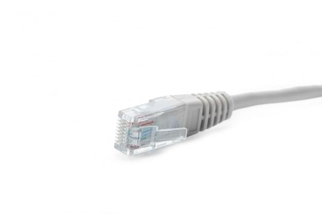 Gros plan, câble réseau