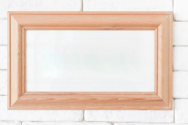 Gros plan, cadre photo, sur, mur brique