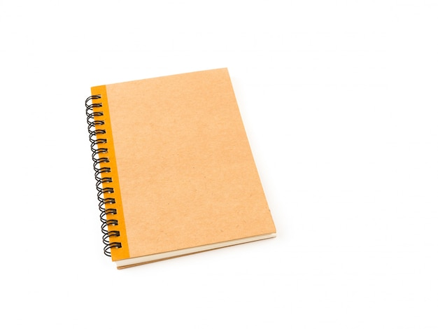 Gros plan de cahier couverture marron
