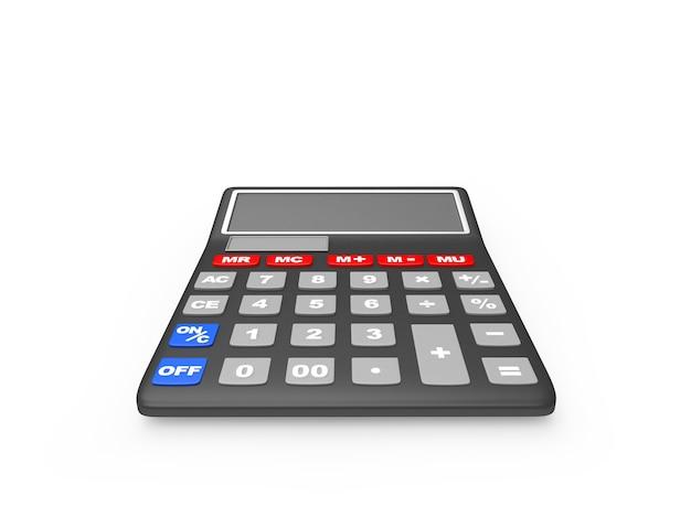 Gros plan de la calculatrice de bureau