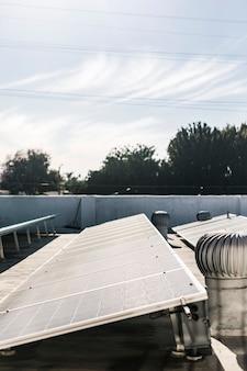 Gros plan des centrales photovoltaïques