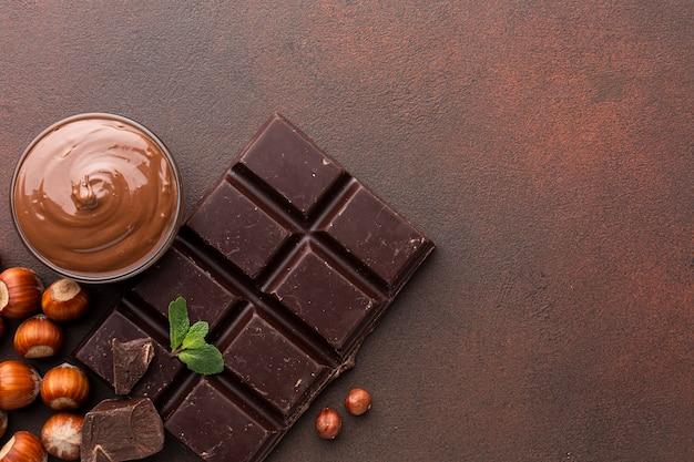 Gros plan de chocolat appétissant