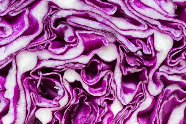 Gros plan, de, chou violet