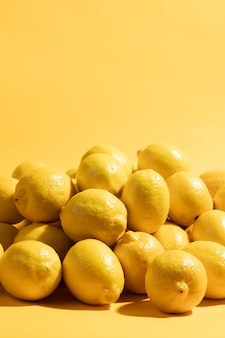 Gros plan de citrons bio