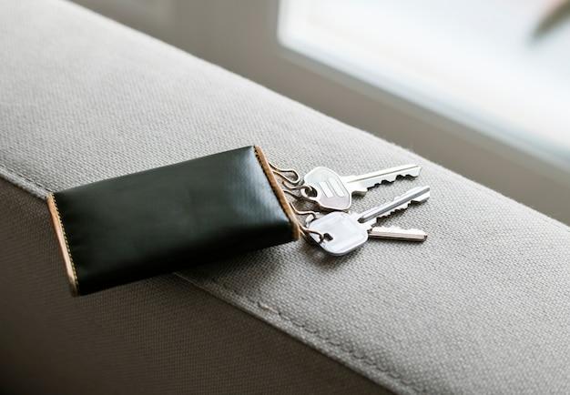 Gros plan des clés de la maison