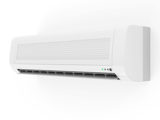Gros plan sur le climatiseur isolé