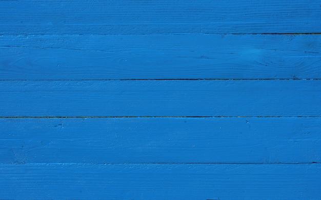 Gros plan sur une clôture de jardin bleu en bois comme arrière-plan