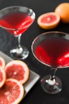 Gros plan, de, cocktail pamplemousse