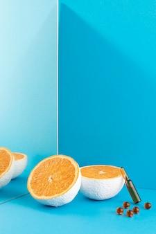 Gros Plan Sur Les Compléments Alimentaires à L'orange Photo Premium