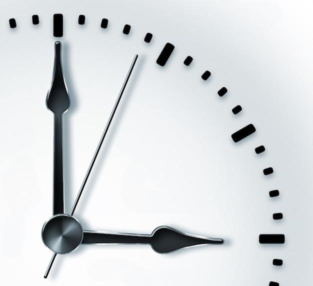 Gros plan de la conception de l'heure de l'horloge