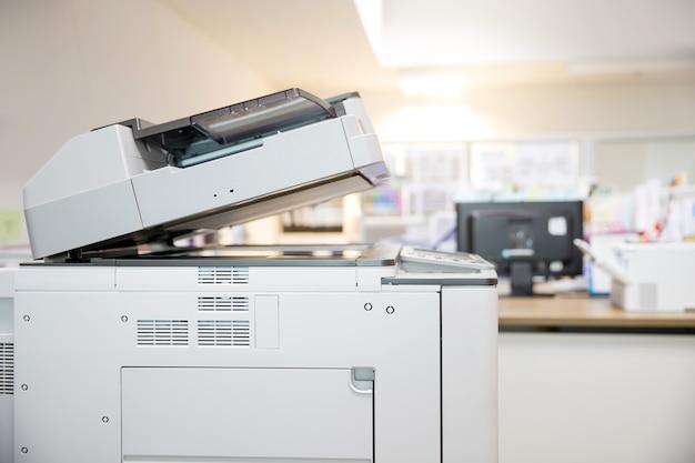 Gros plan sur le copieur.