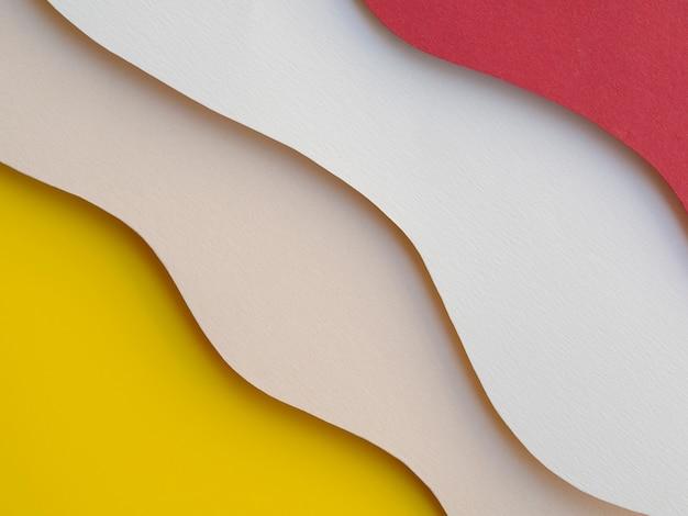 Gros plan couches abstraites vagues de papier