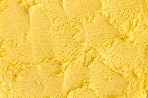 Gros plan de crème glacée monochrome laïc plat
