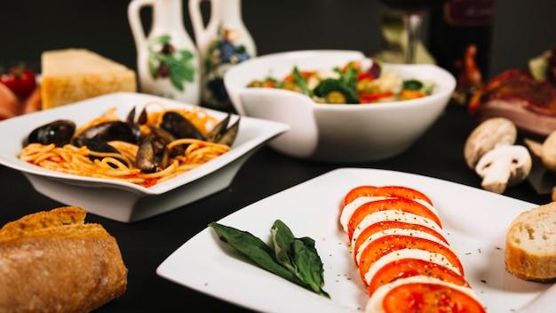 Gros plan de la cuisine méditerranéenne