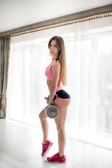 Gros plan cul de belle fille athlétique. aptitude