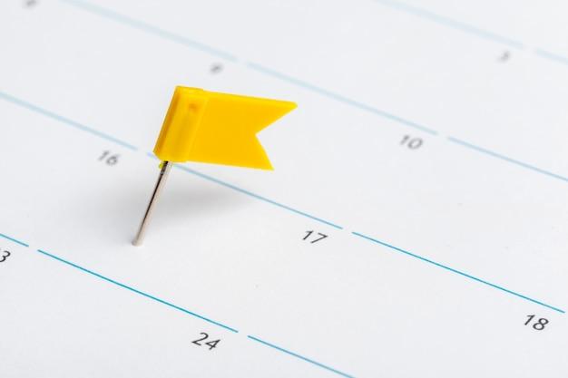 Gros plan des dates sur la page de calendrier