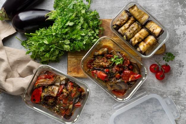 Gros plan sur une délicieuse préparation de repas