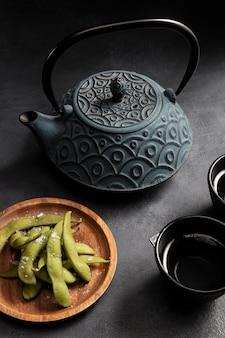 Gros plan sur un délicieux thé asiatique