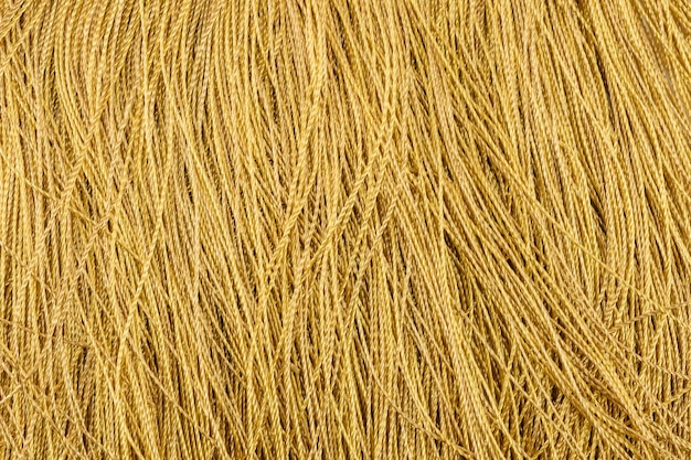 Gros plan et détail de la corde jaune abstrait ou toile de fond