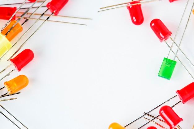 Gros plan de la diode électroluminescente