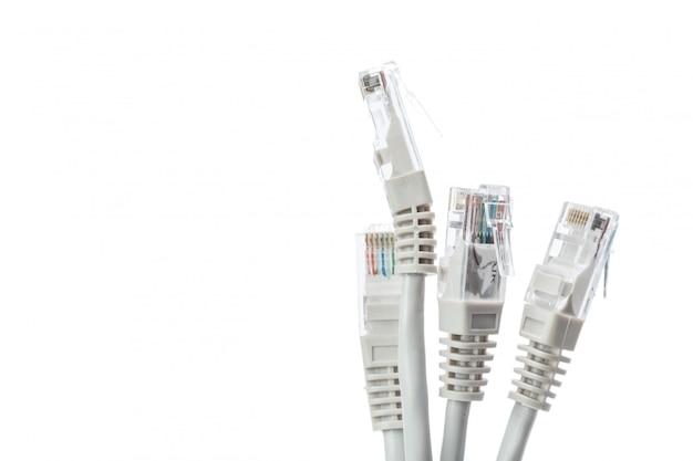 Gros plan du câble réseau