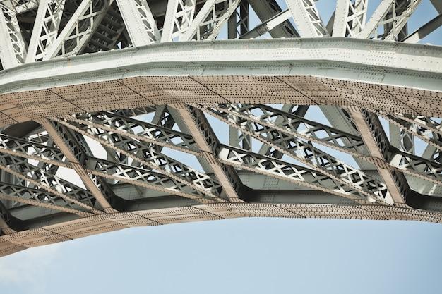 Gros plan du cadre du pont