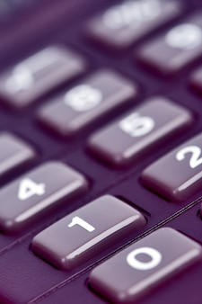 Gros plan du clavier de la calculatrice