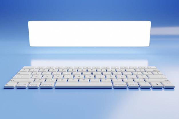 Gros plan du clavier d'ordinateur ou d'ordinateur portable réaliste