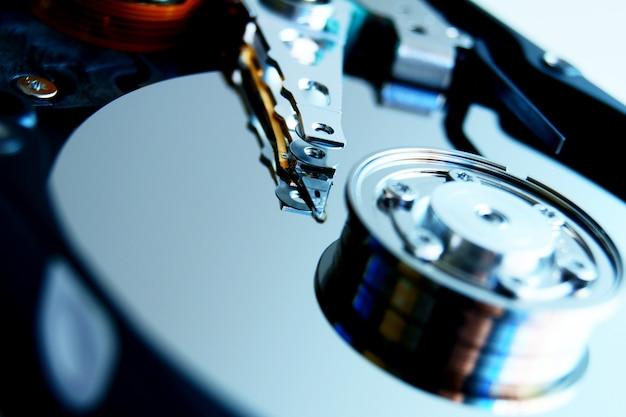 Gros plan du disque dur.