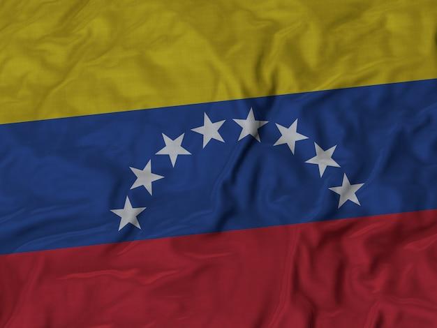 Gros plan du drapeau du venezuela ébouriffé