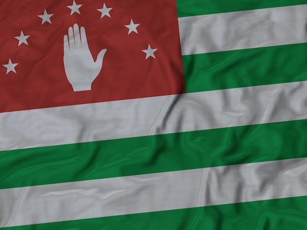 Gros plan du drapeau ébouriffé de l'abkhazie