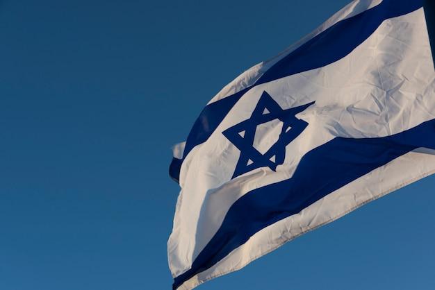 Gros plan du drapeau israélien, israël