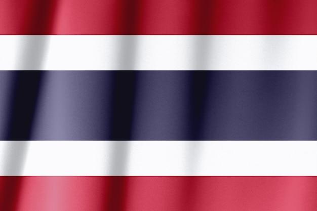 Gros plan du drapeau de la thaïlande, image carrée