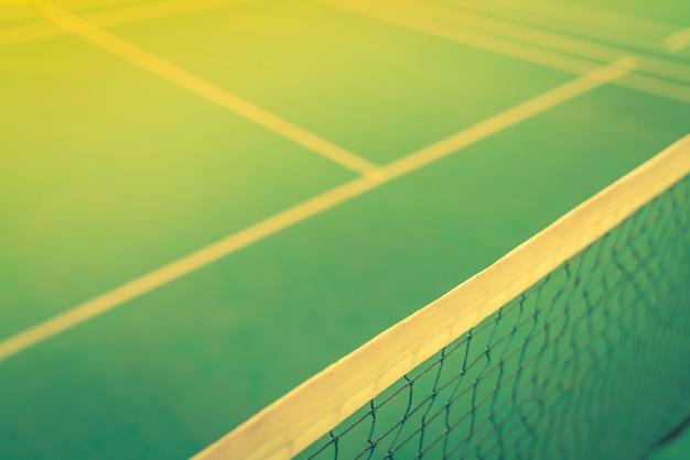 Gros plan du filet en cour de badminton. (image filtrée traitée