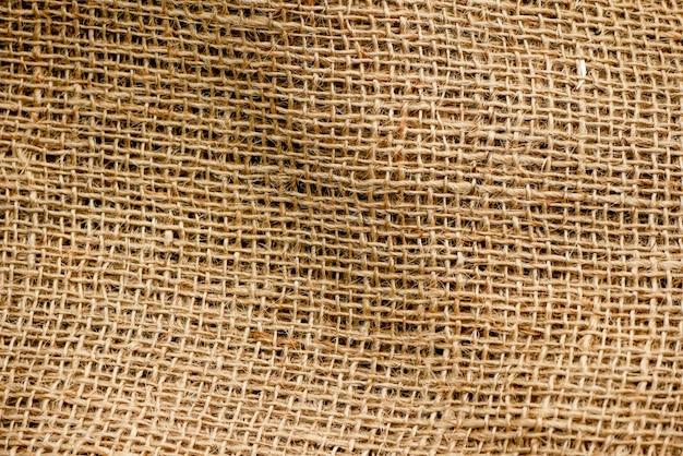 Gros plan du fond de texture d'un sac brun. mise au point douce