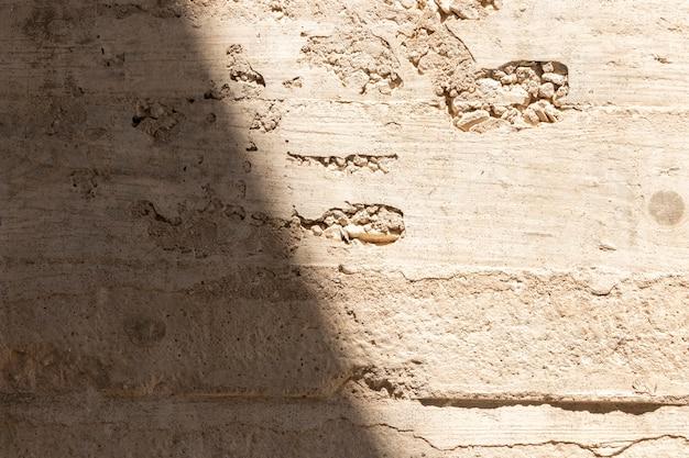 Gros plan du mur de pierre grunge