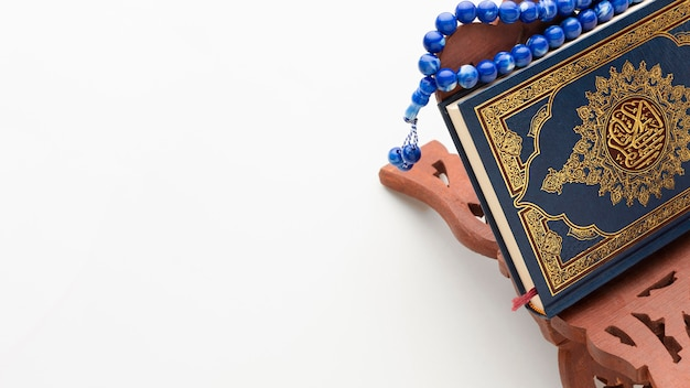 Gros plan du nouvel an islamique avec espace copie