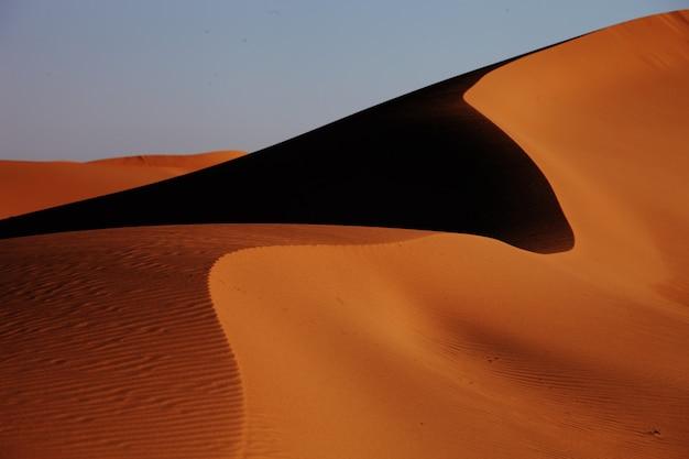 Gros plan sur des dunes de sable à xijiang, chine