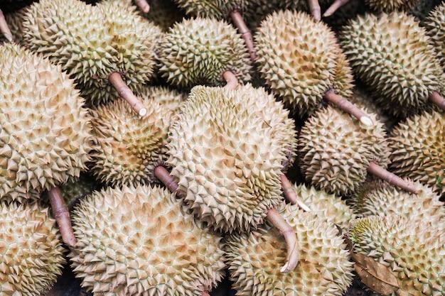 Gros plan durians roi des fruits