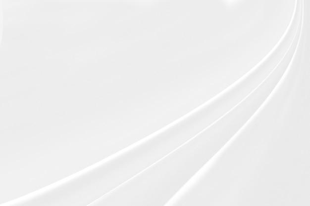 Gros plan élégant froissé de fond et de texture de tissu en tissu de soie blanc.