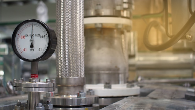 Gros plan d'équipement ou commande de vale pour usine pétrochimique, avenir technologique du système
