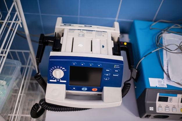 Gros plan, de, équipement médical, machine, dans, salle opération