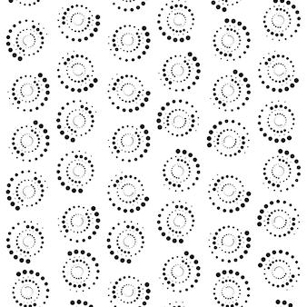 Gros plan extrême de fond de cercle abstrait de points. rendu 3d.